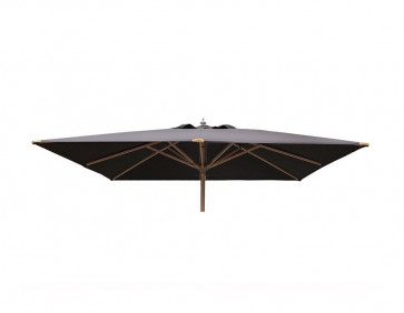 Luksus Parasol 3x3 meter Grå