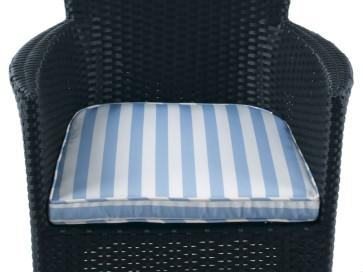Sædehynde Manila Aston Hvid/Blå
