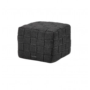 Cane-line Cube fodskammel Mørkegrå