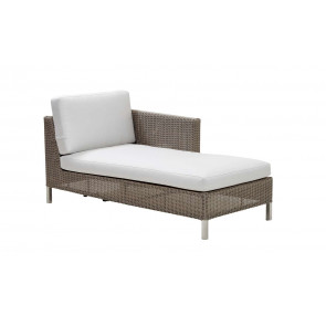 Cane-line Connect chaiselounge modul venstre taupe