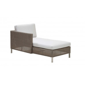 Cane-line Connect chaiselounge modul højre taupe