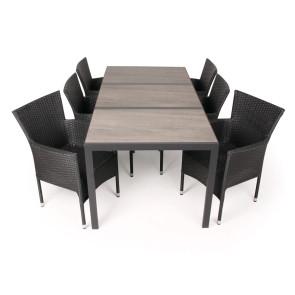 Ceramico Cebu Havemøbelsæt - 90x195 cm - Sort