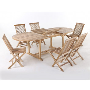 Malaga Køln Teak havemøbelsæt