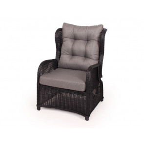 Mary Luksus lounge stol Sort med indstillelig ryg