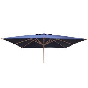 Luksus Parasol 3x3 meter Blå